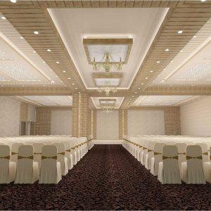 banquet hall interior green hat studioFunction Hall Interior Design #18