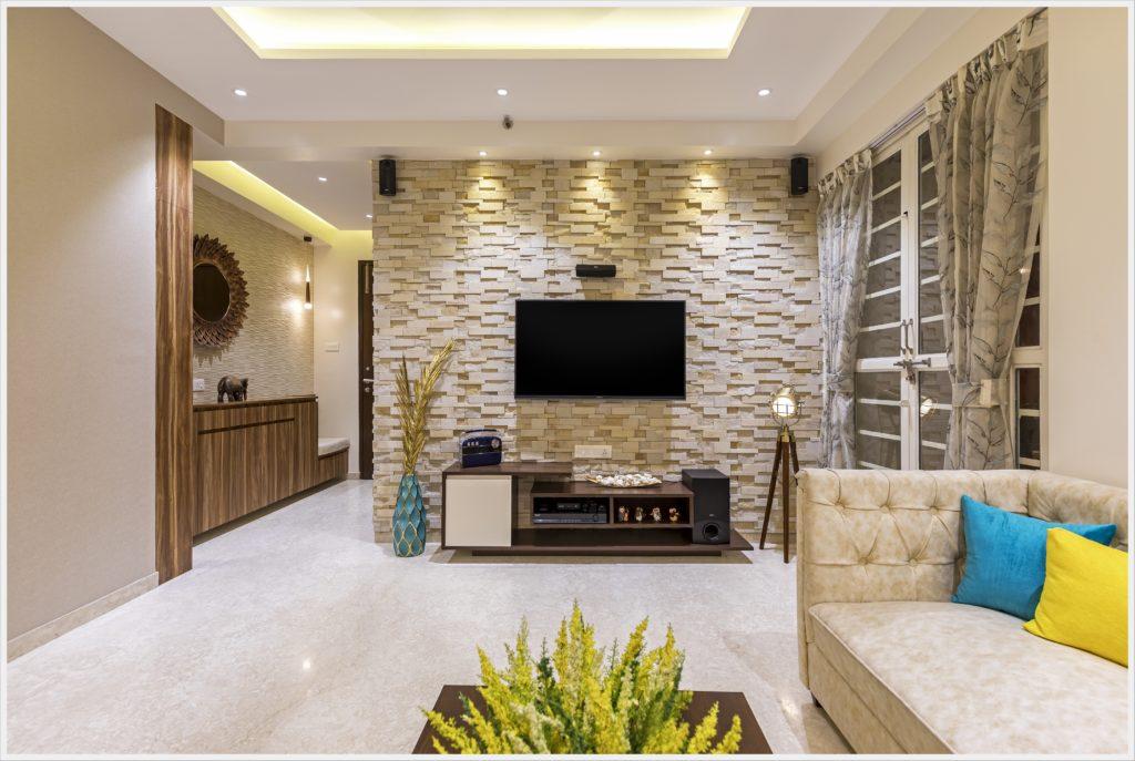TV unit in living room interior design